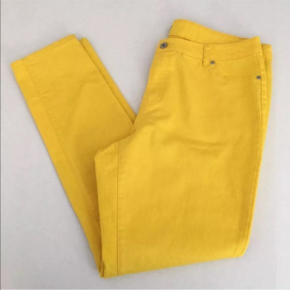 48e111d14f0 Ashley Stewart Skinny Jeans Size 20 Yellow Jegging